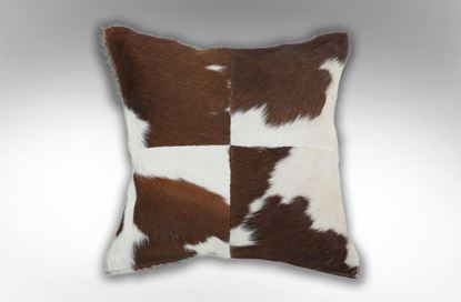 Picture of 4 Patch Chocolate Cushion