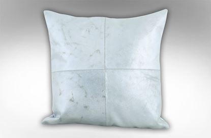 Picture of 4 Patch Silver Leather Cushion