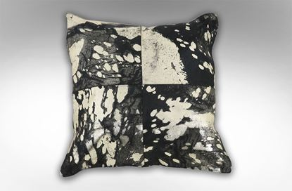 Picture of Black & Gold 4 Patch Cushion