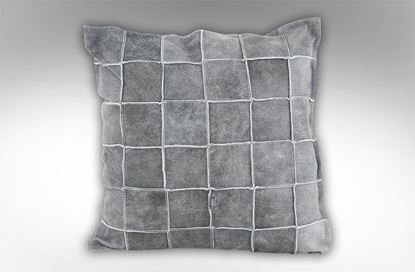 Picture of Vintage Leather Cushion Storm
