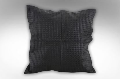 Picture of Leather Embossed Black cushion