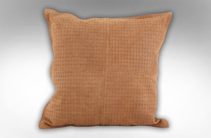 Picture of Leather Embossed Camel cushion