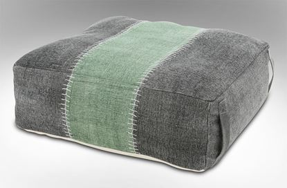 Picture of Lime Stripe Ottoman