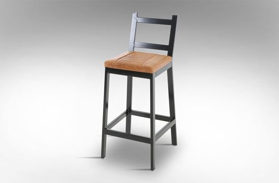 Picture of Arabian Leather Barstool Tan