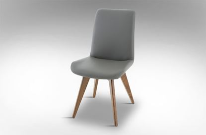Picture of Hilton Leather Dining Chair Storm