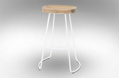Picture of Lexus Barstool 75cm White Frame With Natural Seat
