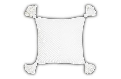 Picture of Como White Cushion 45cm