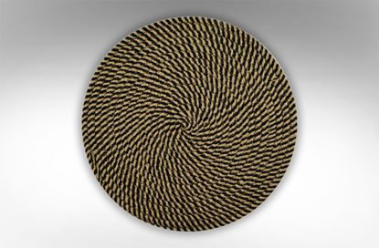 Picture of Round Woven Placemat Brown/ Black