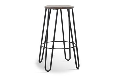 Picture of Fusion Barstool (Black Frame Mocha Seat)