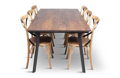 Picture of California 2100 Dining Table With 6 Lexi Dining Chair