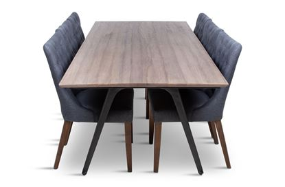Picture of Manhattan 2300 Dining Table (Soft Sand) With 6 Paris Dining Chair