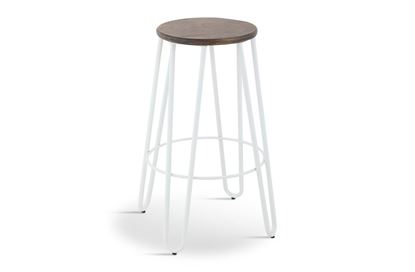 Picture of Fusion Barstool (White Frame Mocha Seat)