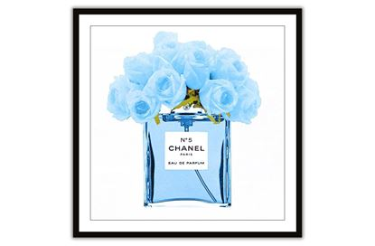Picture of Chanel Blue Bouquet 100 x 100