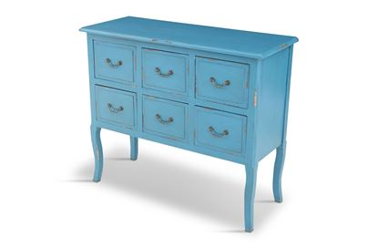 Picture of Lincoln 6 Drawer Blue