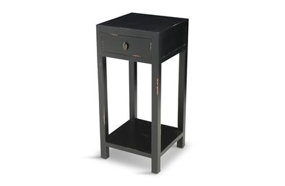 Picture of Shogun One Drawer Side Table Black