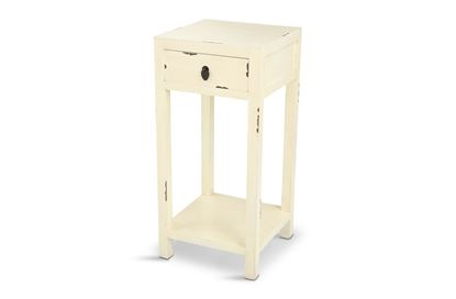 Picture of Shogun One Drawer Side Table White
