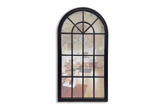Picture of Black Arched Mirror