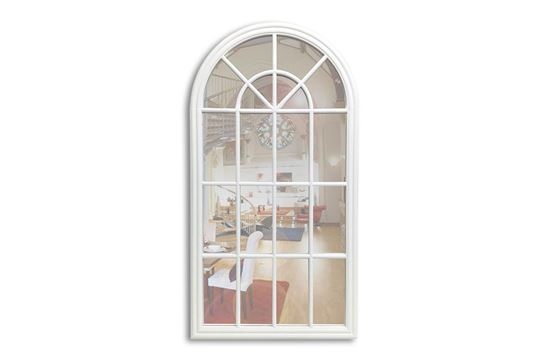 Picture of White Arched Mirror