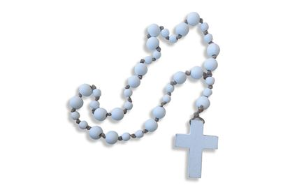 Picture of Beaded Cross White