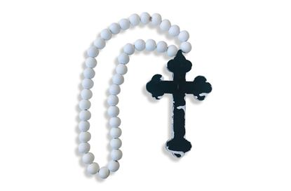 Picture of Tribal Cross White Bead
