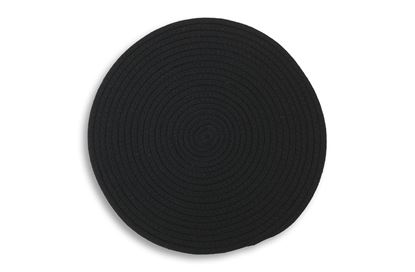 Picture of Round Woven Placemat Black