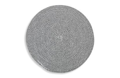 Picture of Round Woven Placemat Black/ White