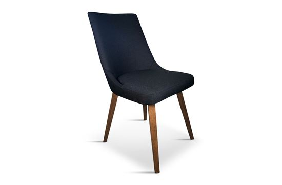 Picture of Lincoln Fabric Dining Chair Black