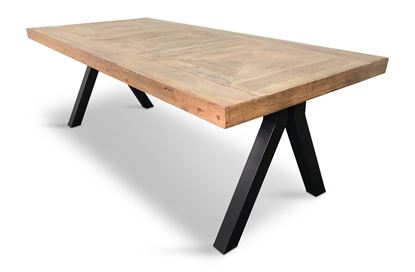 Picture of Sienna 2200 Dining Table  Black Pitched Base