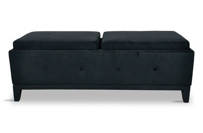 Picture of Bentley Black Ottoman