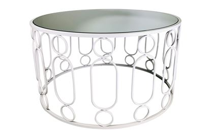 Picture of Glamour White Coffee Table Small