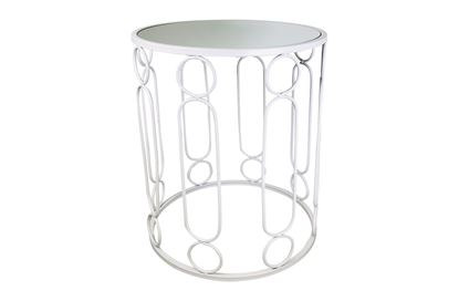 Picture of Glamour White Side Table Large