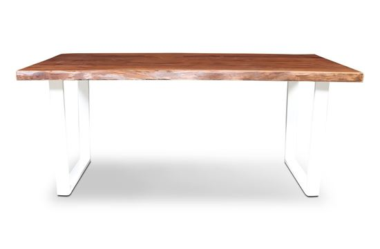 Picture of Prague 1800 Dining Table White U Frame