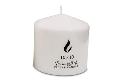 Picture of Pillar Candle 10x10cm white