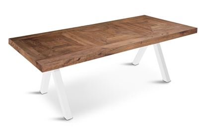 Picture of Sienna 3000 Dining Table White Pitched Base