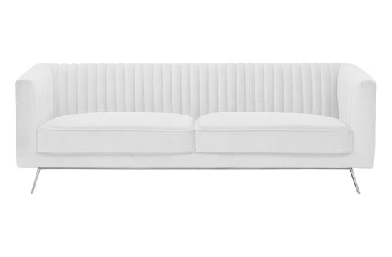Picture of Mia 3 Seat Sofa Ivory Silver Base