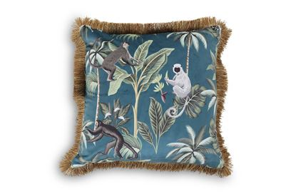 Picture of Blue jungle Luxe Cushion