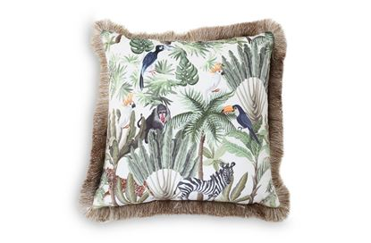 Picture of White Jungle Luxe Cushion