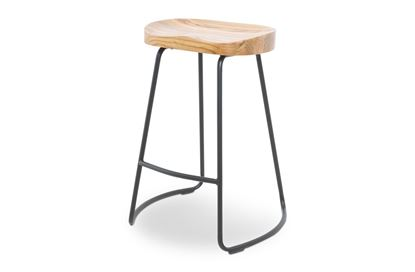 Picture of Lexus Barstool 65cm Black Frame With Natural Seat