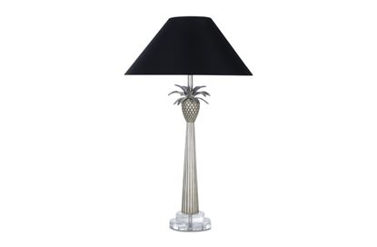 Picture of Champagne Pineapple Lamp (Black Shade)