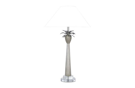 Picture of Champagne Pineapple Lamp (White Shade)