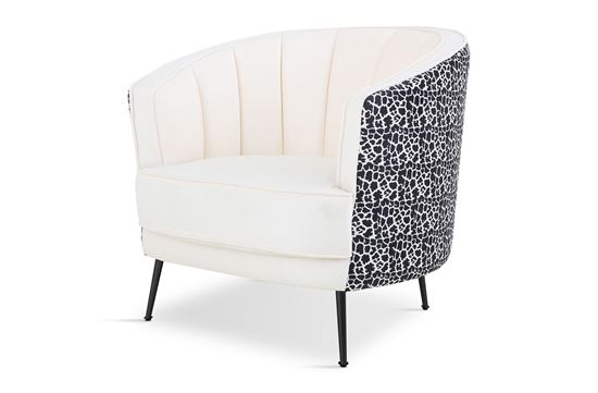 Picture of Cheetah Georgie Occasional Chair Black
