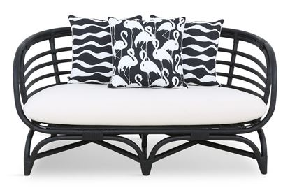 Picture of Bermuda 2.5 Seat Black Frame Black Flamingo Edition