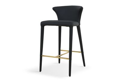 Picture of Bardot Barstool Luxe Black  Gold Footrest