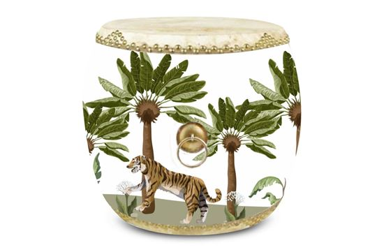 Picture of Drum Side Table TIGER