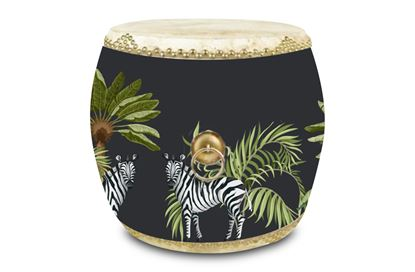 Picture of Drum Side Table ZEBRA