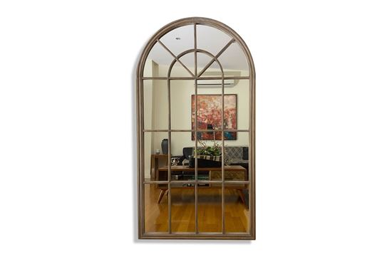 Picture of Arched Natural Mirror